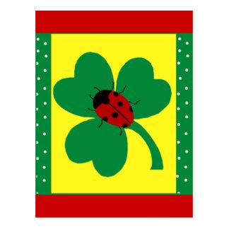 St Patty s Ladybugs Post Cards