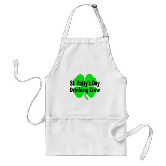 St Pattys Day Drinking Crew Adult Apron