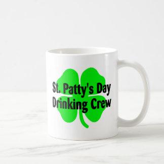 St Pattys Day Drinking Crew Coffee Mugs