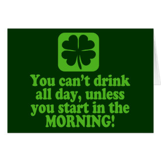 St Patty's Day Green Beer Greeting Card