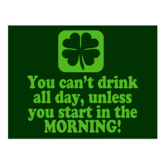 St Patty's Day Green Beer Postcard