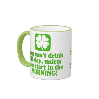 St Patty's Day Green Beer Ringer Mug