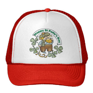 St Patty's Day Happy St. Paddy's Day Mesh Hat