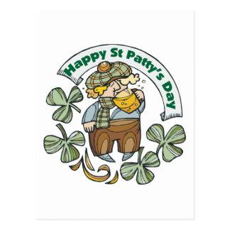 St Patty's Day Happy St. Paddy's Day Postcard