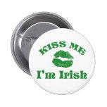 St. Patty's Day Kiss Me I'm Irish 6 Cm Round Badge