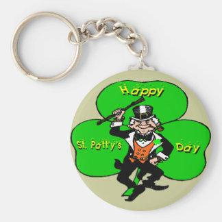 St Patty's Day Leprechaun Shamrock Keychain