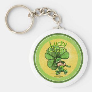 St Patty's day - Lucky Charm Basic Round Button Key Ring