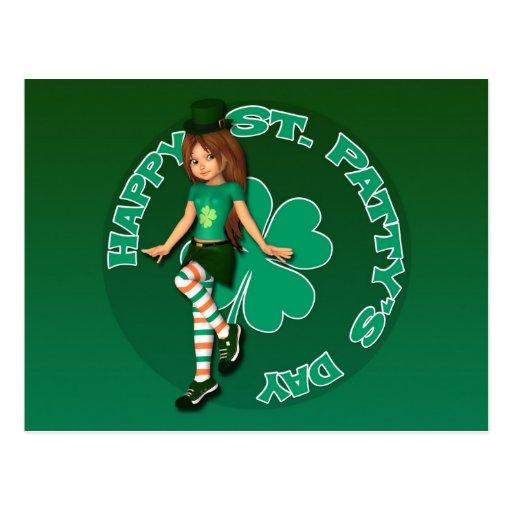St. Patty's Day Sadie 16 Postcard