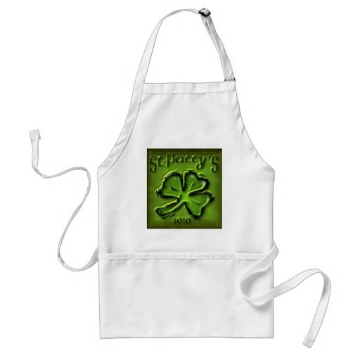 St Patty's Day Shamrock Products Aprons