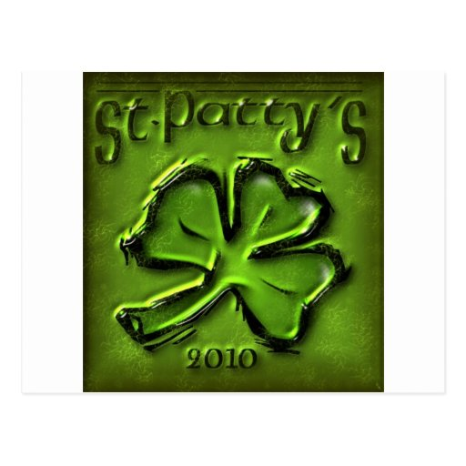 St Patty's Day Shamrock Products Postcard