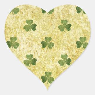 St Patty's Shamrock Heart Sticker