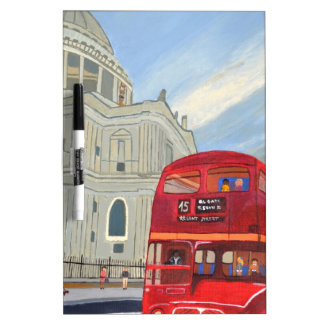St.Paul Cathedral and London Bus Dry Erase Board