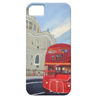 St.Paul Cathedral and London Bus iPhone 5 Cover