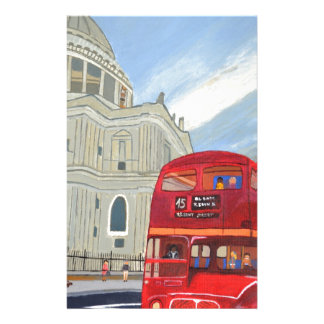 St.Paul Cathedral and London Bus Personalised Stationery