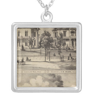 St. Paul Harvester Works, Minnesota Silver Plated Necklace