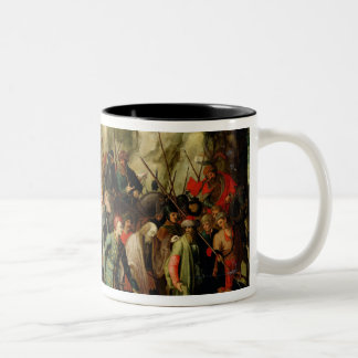 St. Paul Led to Damascus After his Conversion Two-Tone Coffee Mug