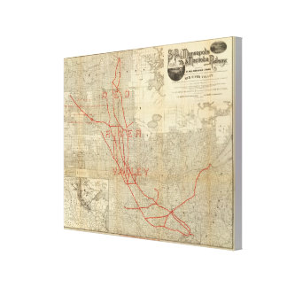 St Paul, Minneapolis and Manitoba Railway Canvas Print