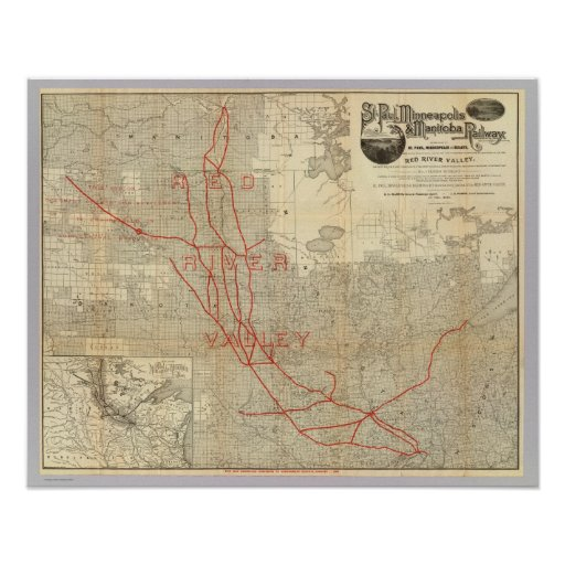 St Paul, Minneapolis and Manitoba Railway Posters