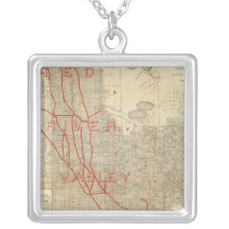 St Paul, Minneapolis and Manitoba Railway Silver Plated Necklace
