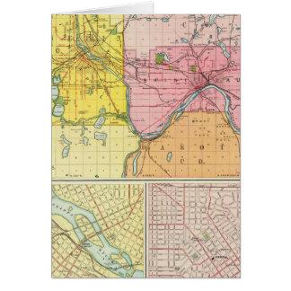 St. Paul, Minneapolis, Minnesota Card