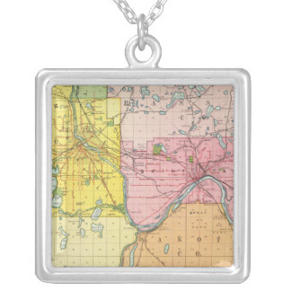 St. Paul, Minneapolis, Minnesota Silver Plated Necklace