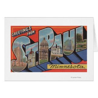 St. Paul, Minnesota - Large Letter Scenes Card