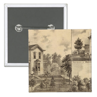 St. Paul, Minnesota Lithograph 15 Cm Square Badge