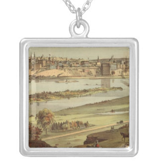 St. Paul, Minnesota Lithograph 2 Silver Plated Necklace