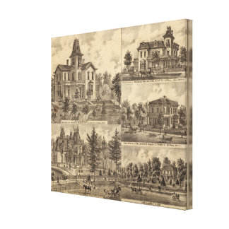 St. Paul, Minnesota Lithograph Canvas Print