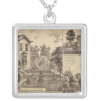 St. Paul, Minnesota Lithograph Silver Plated Necklace