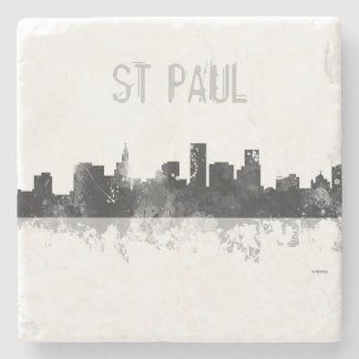 ST PAUL, MINNESOTA SKYLINE STONE COASTER