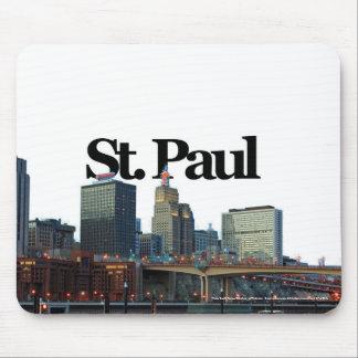 St Paul Minnesota Skyline w St Paul in the Sky Mouse Pad