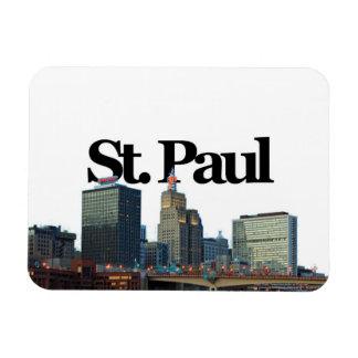 St Paul Minnesota Skyline w St Paul in the Sky Flexible Magnets