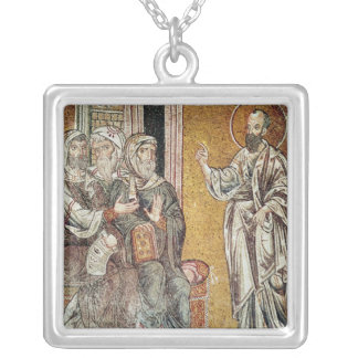 St. Paul Preaching to the Jews Silver Plated Necklace