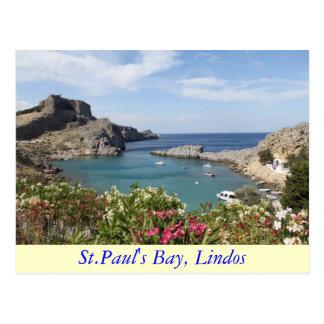 St Paul s Bay Lindos Post Card