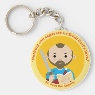 St. Paul the Apostle Basic Round Button Key Ring