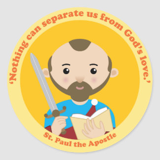 St. Paul the Apostle Classic Round Sticker