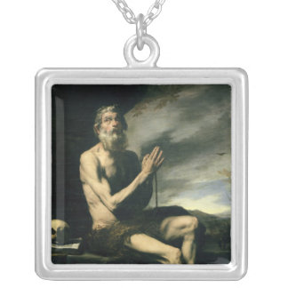 St. Paul the Hermit Silver Plated Necklace