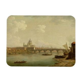 St. Paul's and Blackfriars Bridge, London, c.1770- Rectangular Photo Magnet