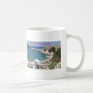 St.Paul's Bay, Lindos Coffee Mug