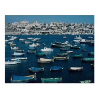 St. Paul's Bay, northwestern Malta Postcard