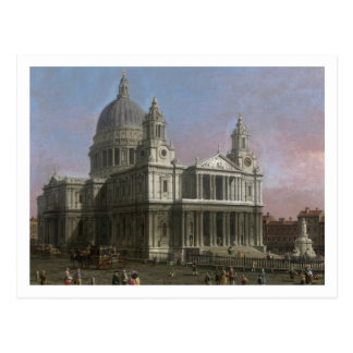 St. Paul's Cathedral, 1754 (oil on canvas) Postcard