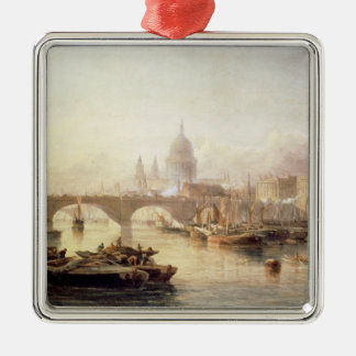 St. Paul's Cathedral and London Bridge Christmas Ornament
