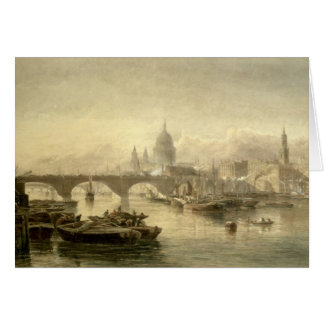 St. Paul's Cathedral and London Bridge from the Su Greeting Card