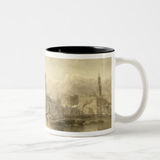 St. Paul's Cathedral and London Bridge from the Su Two-Tone Coffee Mug