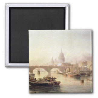 St. Paul's Cathedral and London Bridge Square Magnet