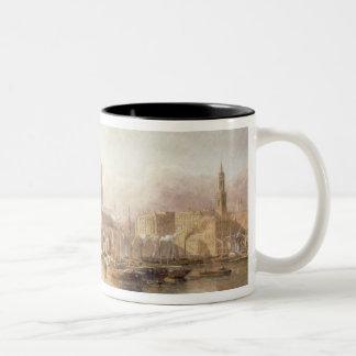 St. Paul's Cathedral and London Bridge Two-Tone Coffee Mug