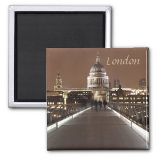 St Pauls Cathedral and Millenium Bridge in London Magnet