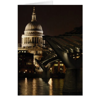 St Pauls Cathedral and the Millenium at Night Card