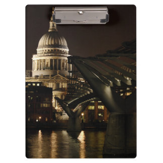 St Pauls Cathedral and the Millenium bridge Clipboards